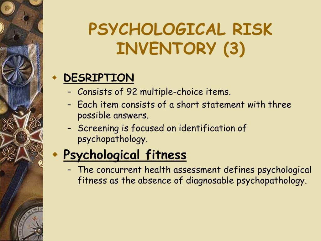 PSYCHOLOGICAL RISK INVENTORY (3)