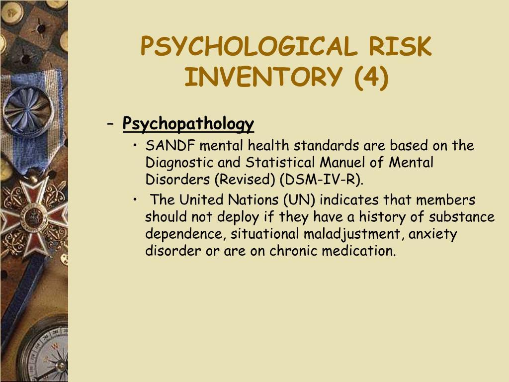 PSYCHOLOGICAL RISK INVENTORY (4)