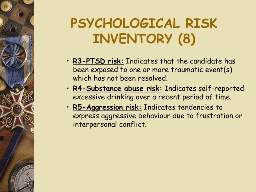 PSYCHOLOGICAL RISK INVENTORY (8)