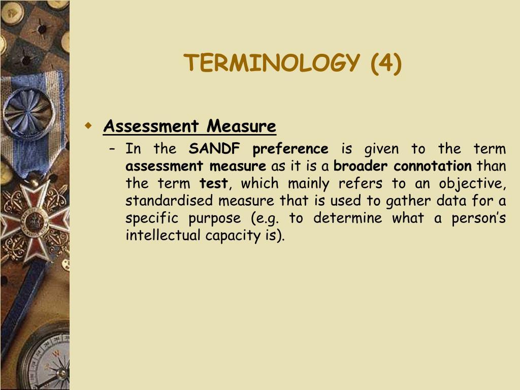TERMINOLOGY (4)