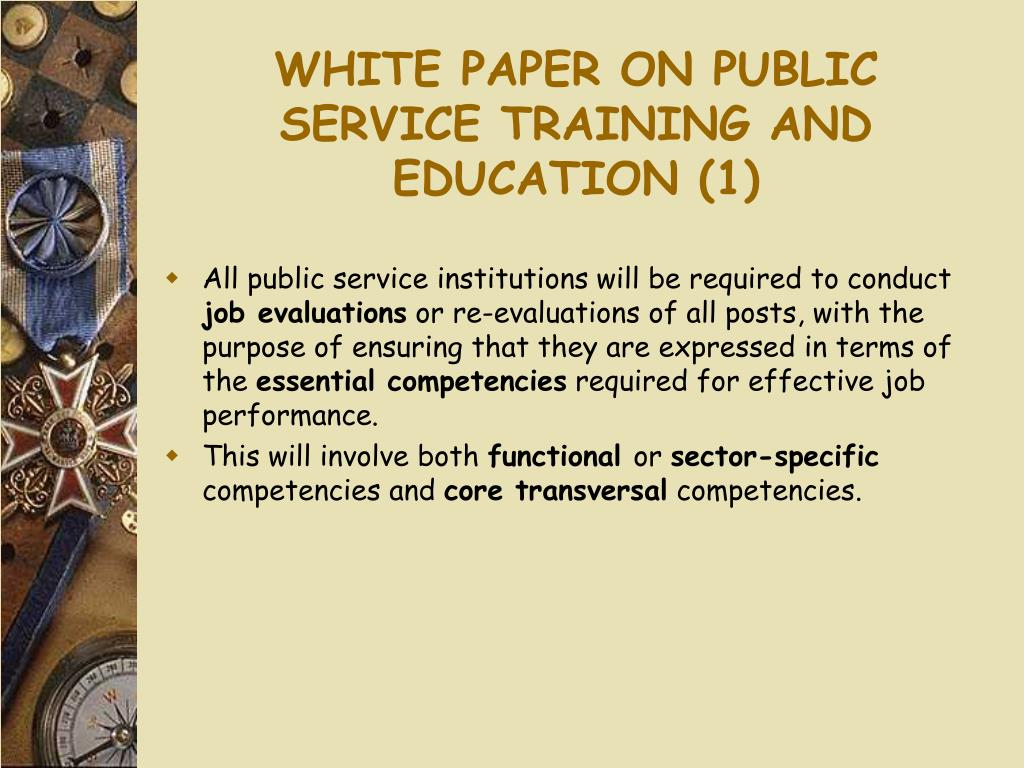 WHITE PAPER ON PUBLIC SERVICE TRAINING AND EDUCATION (1)