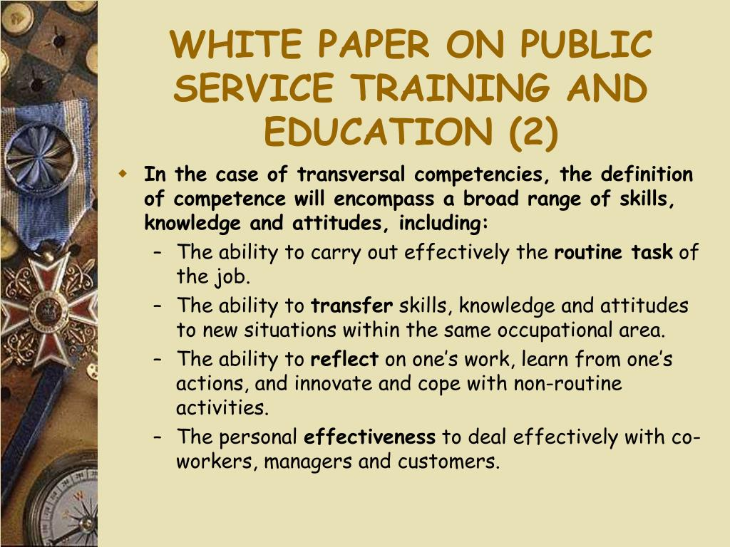 WHITE PAPER ON PUBLIC SERVICE TRAINING AND EDUCATION (2)