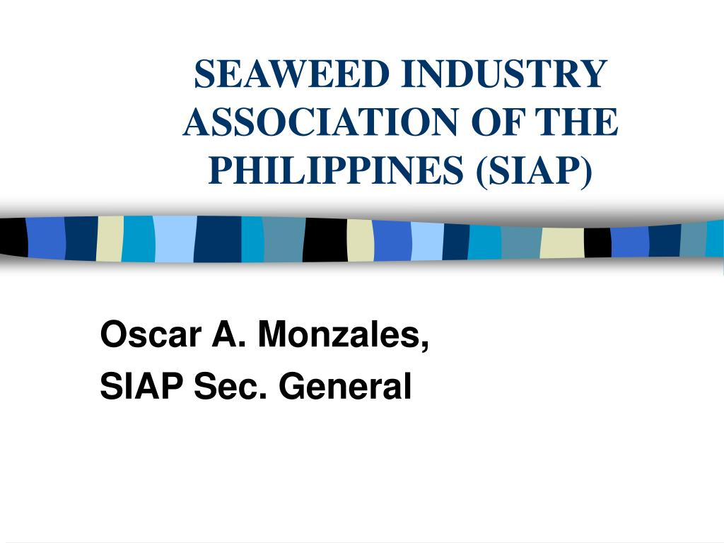 seaweed industry association of the philippines siap l.