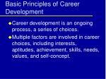 basic principles of career development