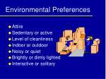 environmental preferences