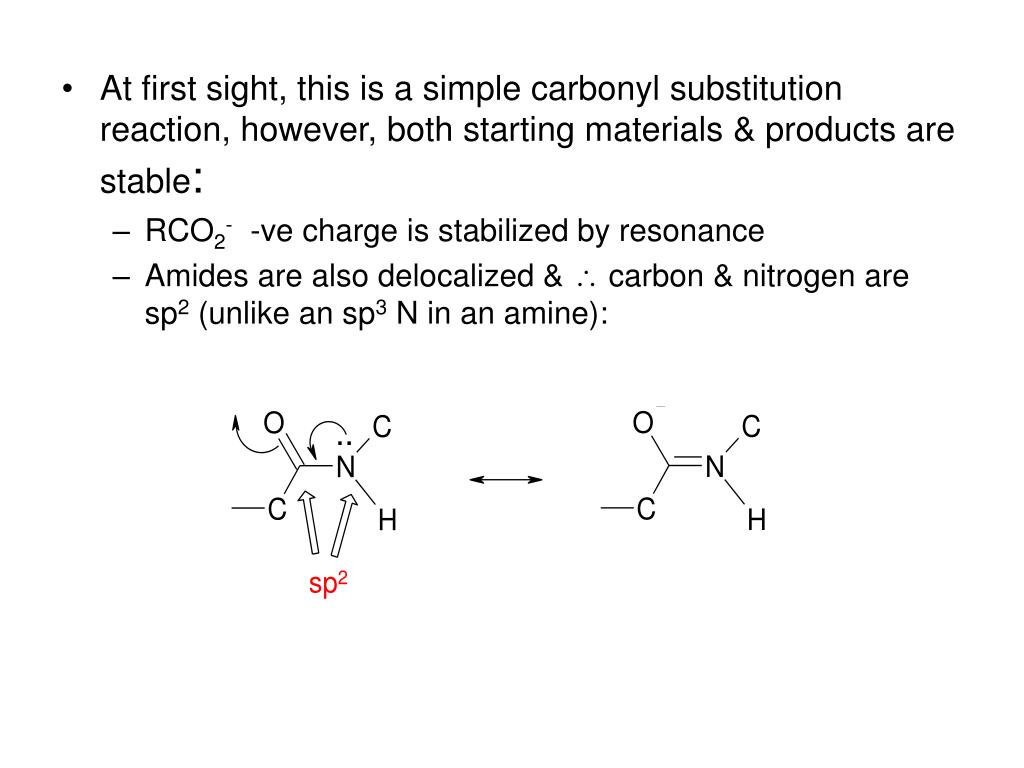 At first sight, this is a simple carbonyl substitution reaction, however, both starting materials & products are stable