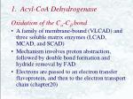 1 acyl coa dehydrogenase