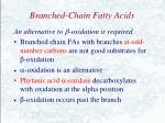 branched chain fatty acids