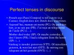 perfect tenses in discourse