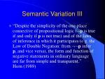 semantic variation iii