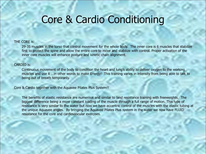 Core cardio conditioning