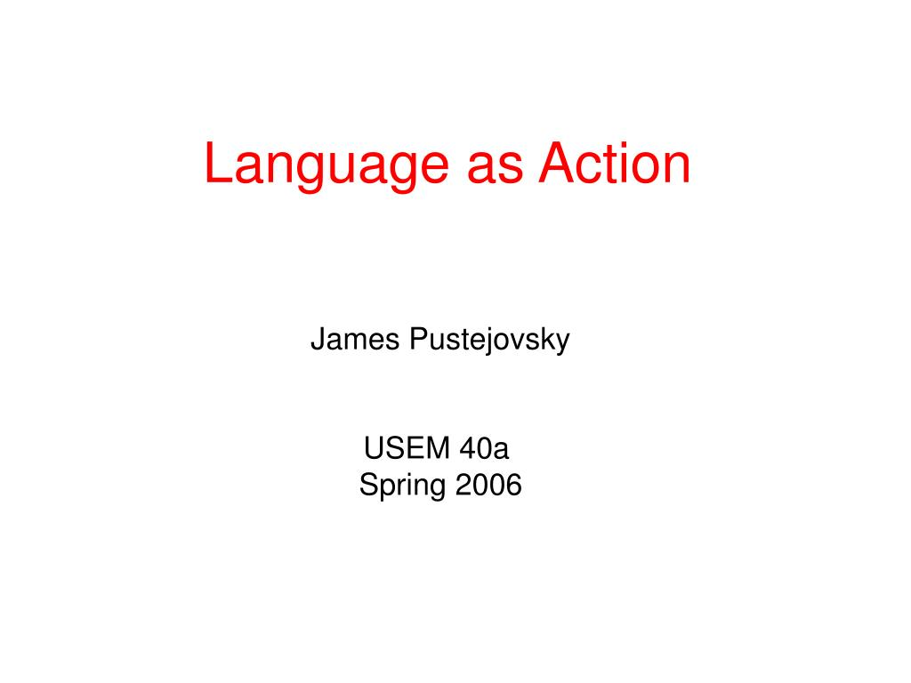 language as action l.