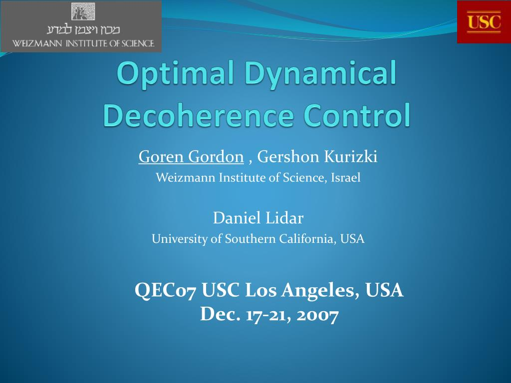 optimal dynamical decoherence control l.