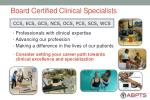 board certified clinical specialists47