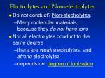 electrolytes and non electrolytes1