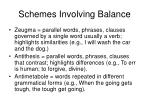 schemes involving balance