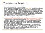 autonomous practice11