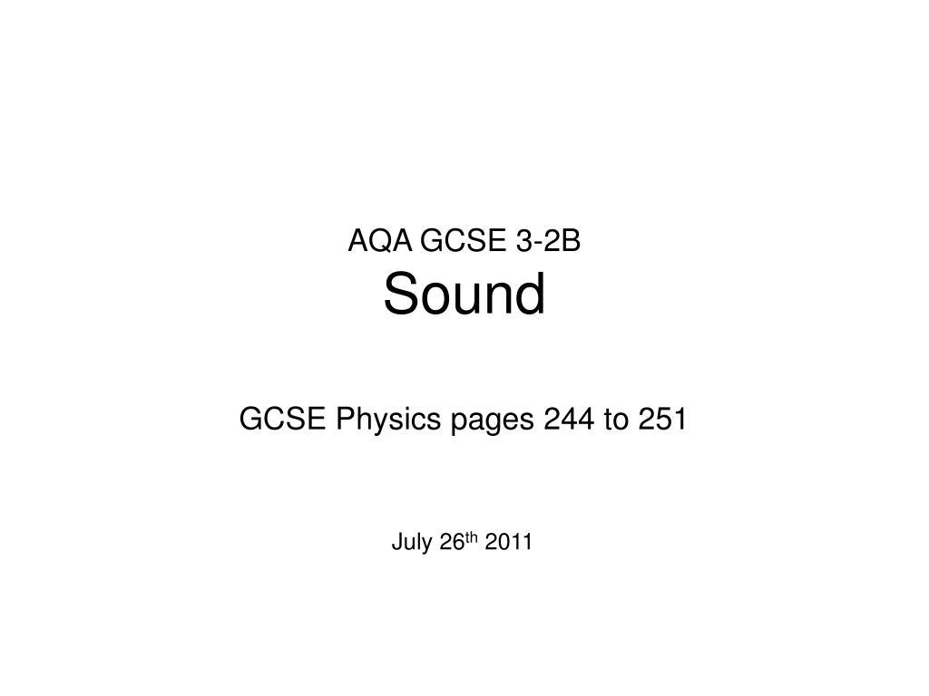 aqa gcse 3 2b sound l.