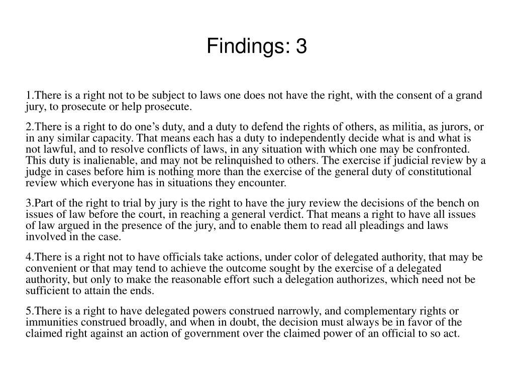 Findings: 3
