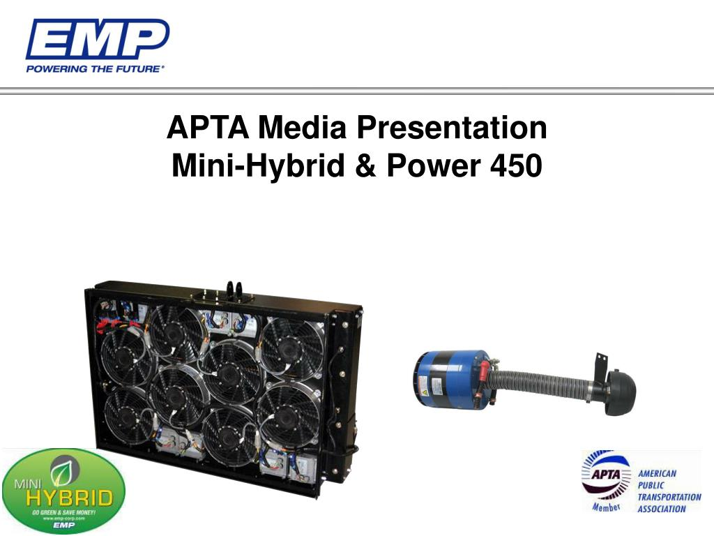 apta media presentation mini hybrid power 450 l.