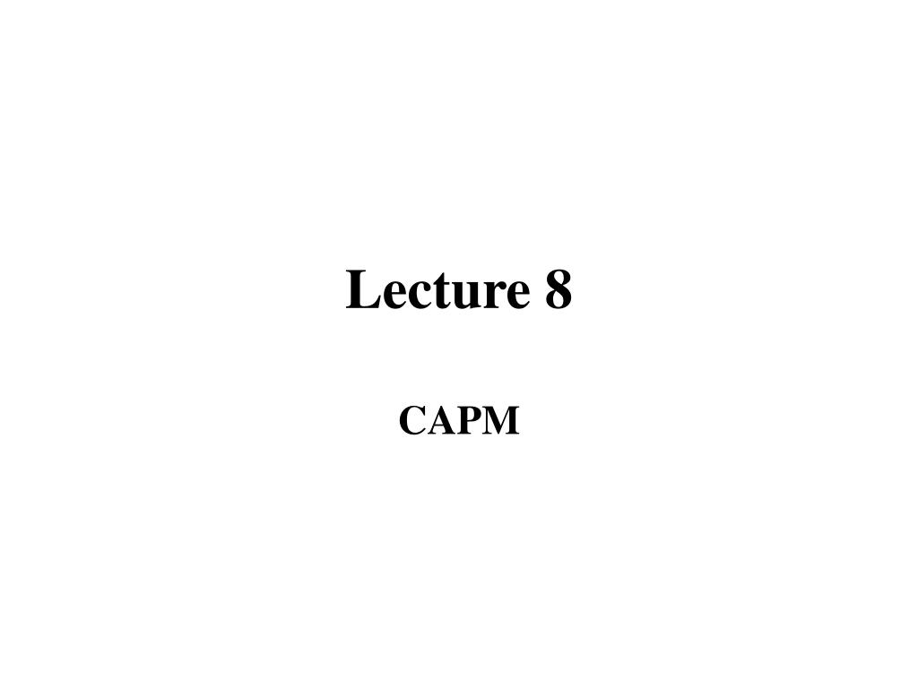 Lecture 8