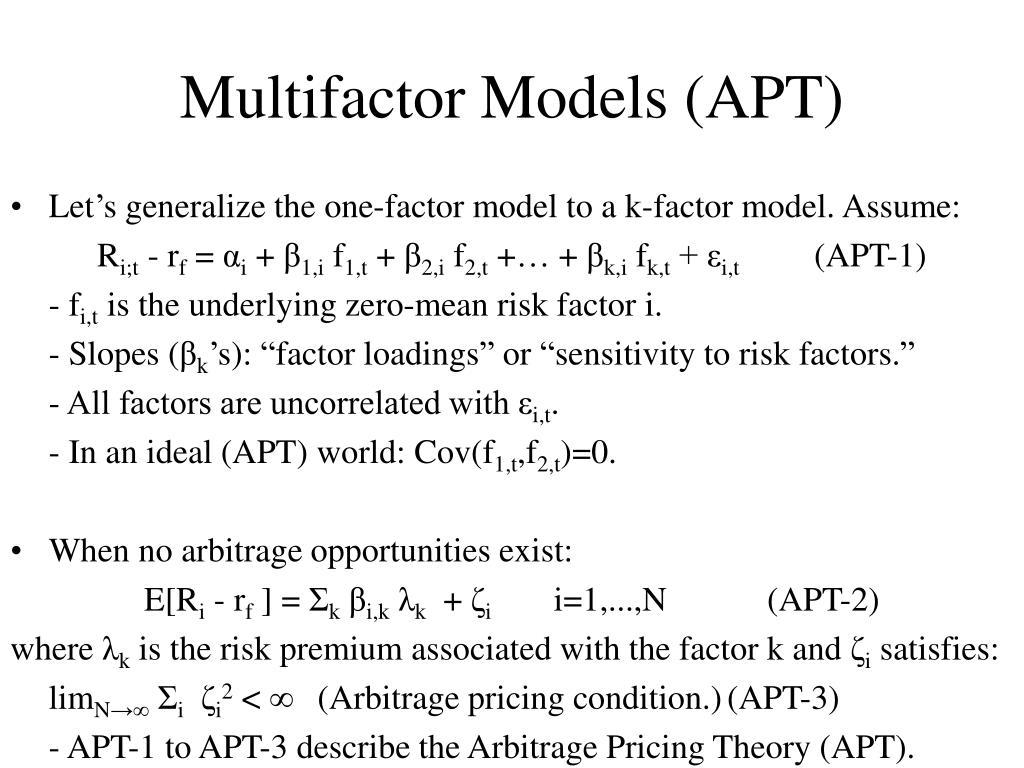 Multifactor Models (APT)