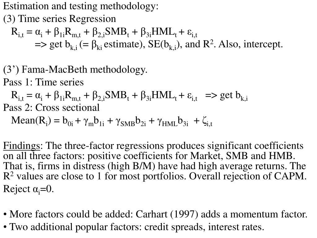 Estimation and testing methodology: