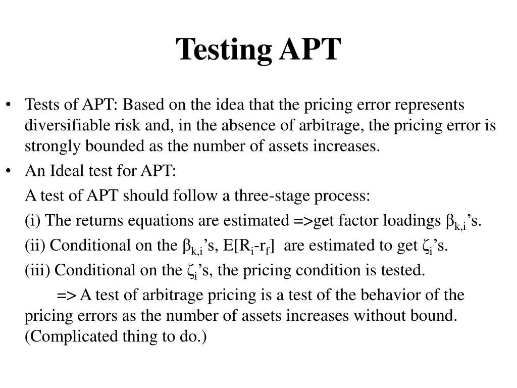 Testing APT