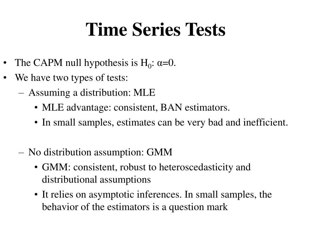 Time Series Tests