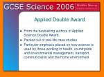 applied double award21