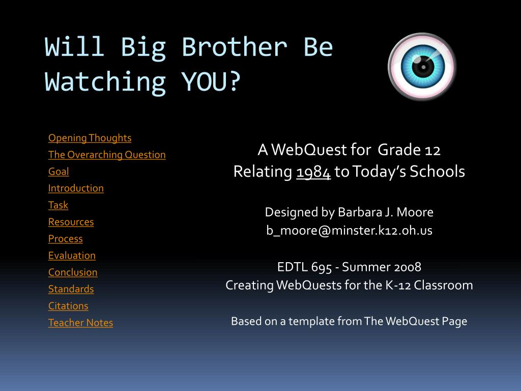 will big brother be watching you l.