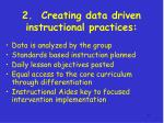 2 creating data driven instructional practices
