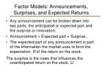 factor models announcements surprises and expected returns4