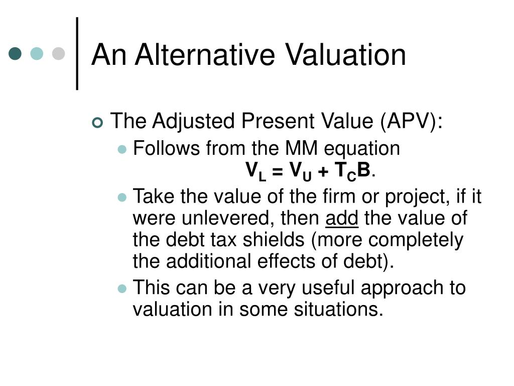 An Alternative Valuation