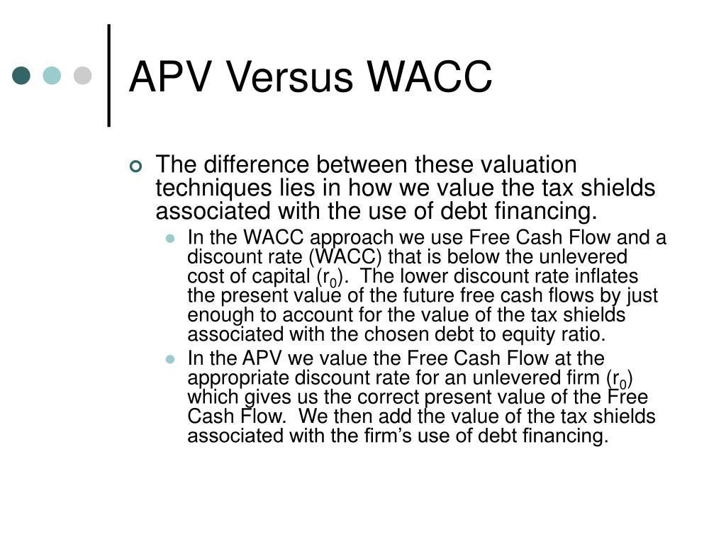 APV Versus WACC