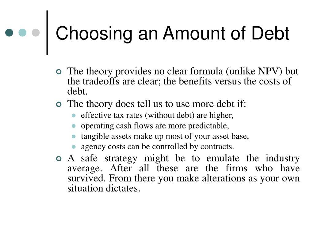 Choosing an Amount of Debt