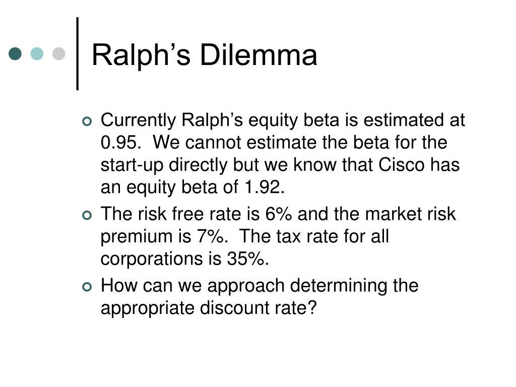 Ralph's Dilemma