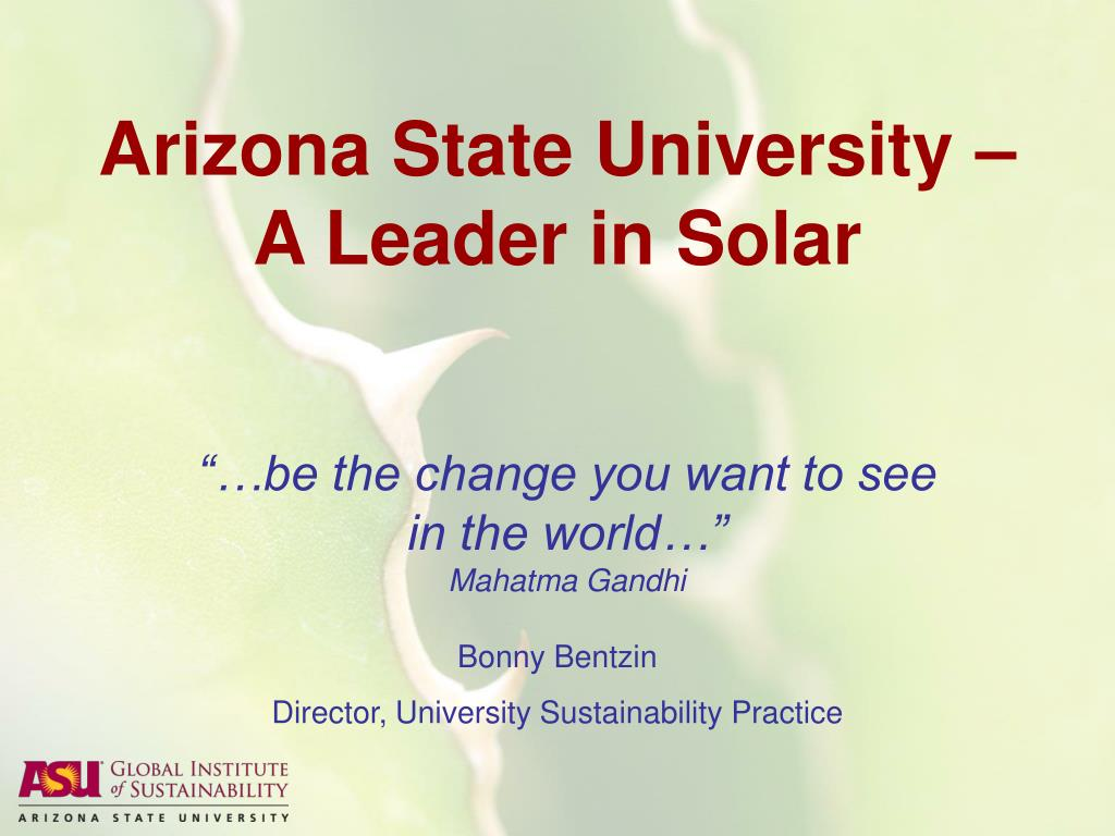 arizona state university a leader in solar l.