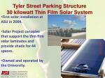 tyler street parking structure 30 kilowatt thin film solar system