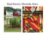 seed savers decorah iowa