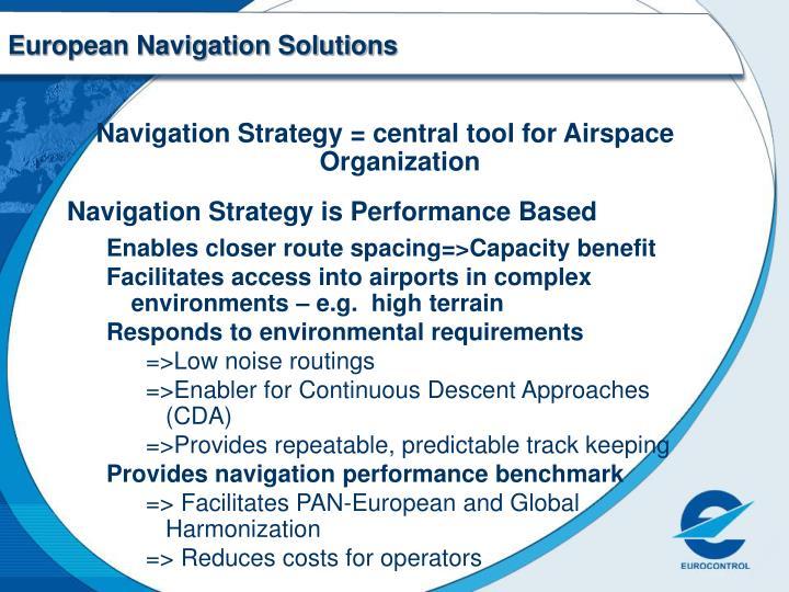 European navigation solutions