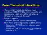 case theoretical interactions37