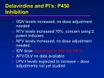 delavirdine and pi s p450 inhibition