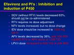 efavirenz and pi s inhibition and induction of p450