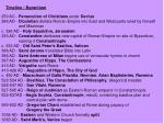 timeline byzantium