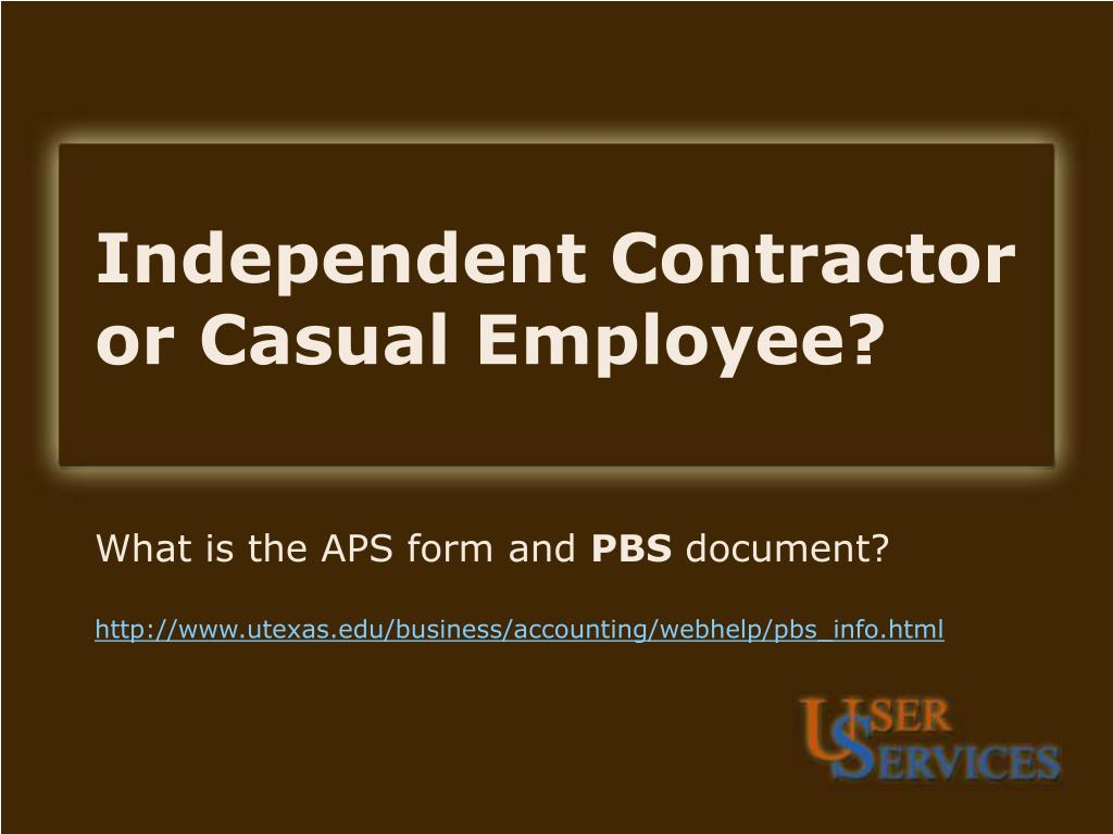 independent contractor or casual employee l.