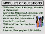 modules of questions5