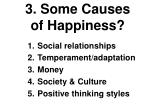 3 some causes of happiness