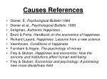 causes references