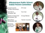 albuquerque public school indian parent committee